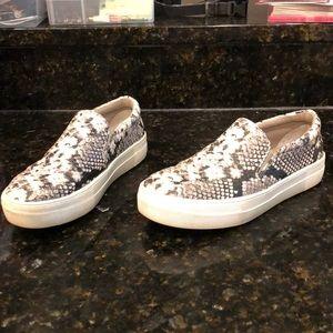 Steve Madden Snakeskin Slip On Sneakers